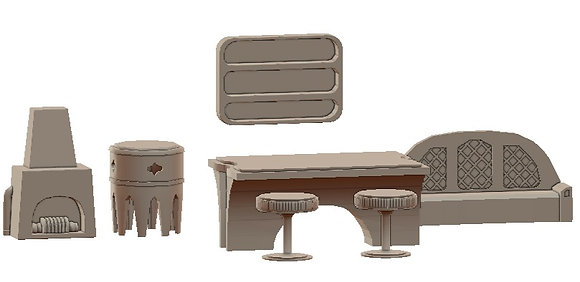 Desert Furniture Set by War Scenery from Desert Trading Post