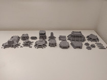 War Scenery Printed STL Model Apocalypse Fortress