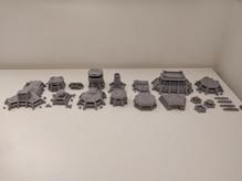 War Scenery Printed STL Model Apocalypse Fortress