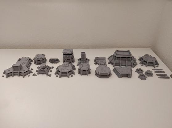 War Scenery Gedruckte STL Model Apocalypse Fortress