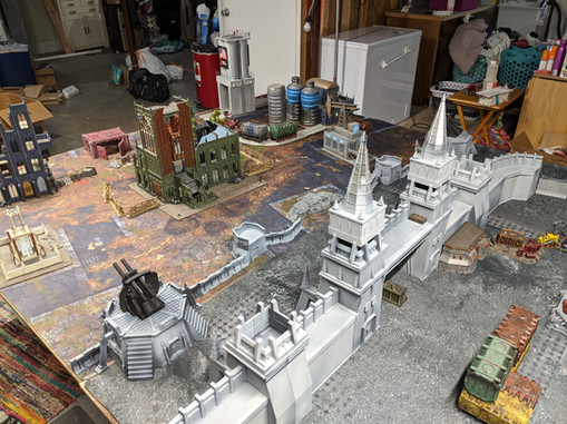 War Scenery Printed STL Model Fortress Walls