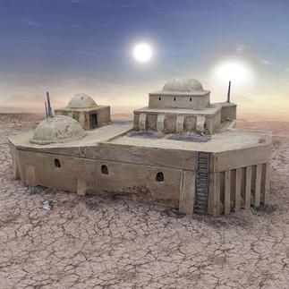 Wüstencantina-Kriegslandschaft