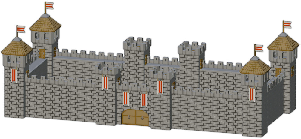 3D printable Medival Fortress by War Scenery