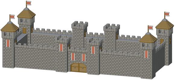Mittelalterliche Burgmauern