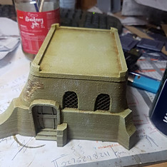 War Scenery Printed Deser House