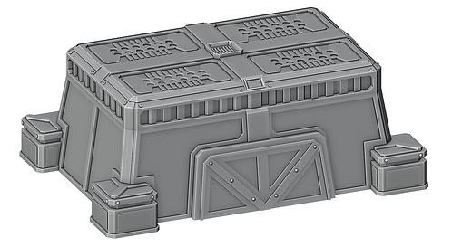Sci-Fi Vehicle Bunker by War Scenery