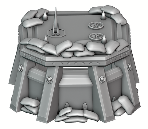 Pillbox with Sandbags War Scenery