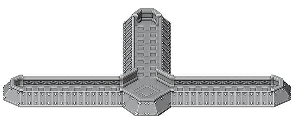 Modular Sci-Fi Trenchby War Scenery