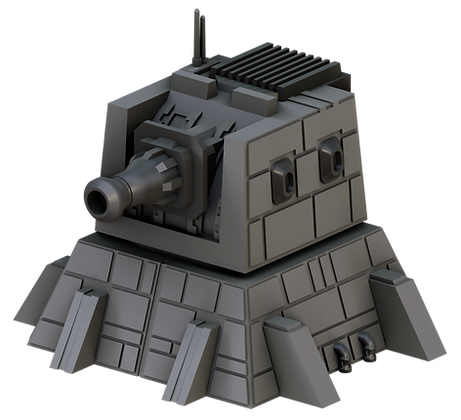 3D printable Heavy Ion Cannon Tower by War Scenery