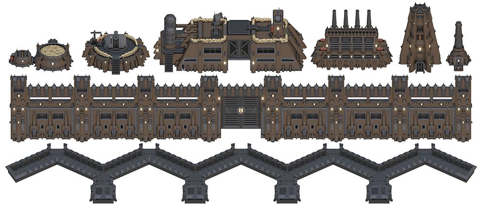 War Scenery Grimdark Stronghold Header