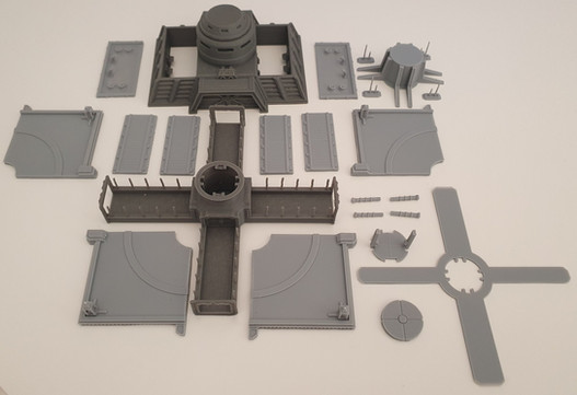 War Scenery Printed STL Model Parts of the Landing Tower