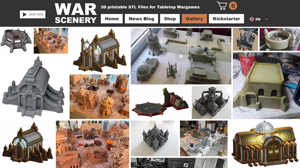 War Scenery Gallery (Printed Models)