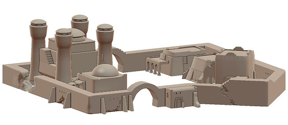 City Walls and Fountain by War Scenery from Desert Trading Post