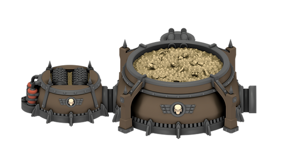 Food Processing Silofrom Grimdark Stronghold byWar Scenery