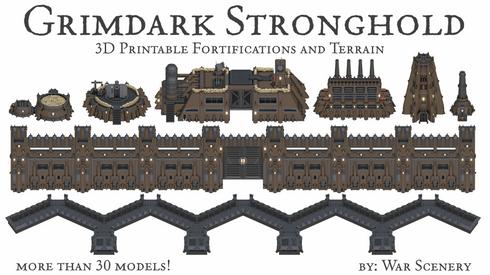 Grimdark Stronghold Kickstarter War Scenery