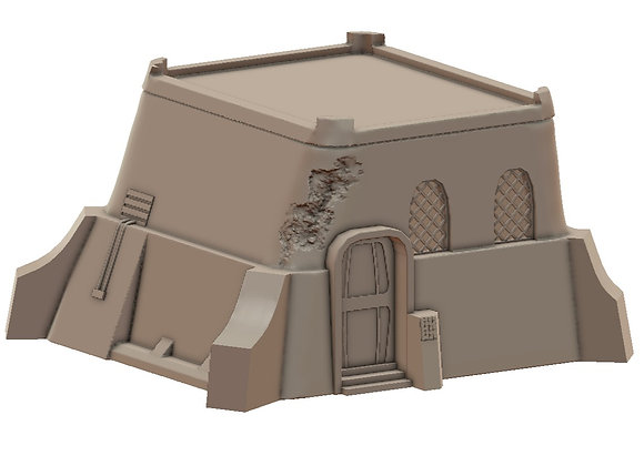 House and Toilet by War Scenery from Desert Trading Post