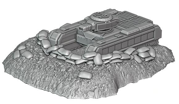 Tank Trench 1 War Scenery