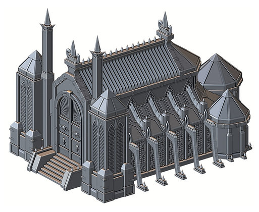 Front Order Holy Cathedral War Scenery