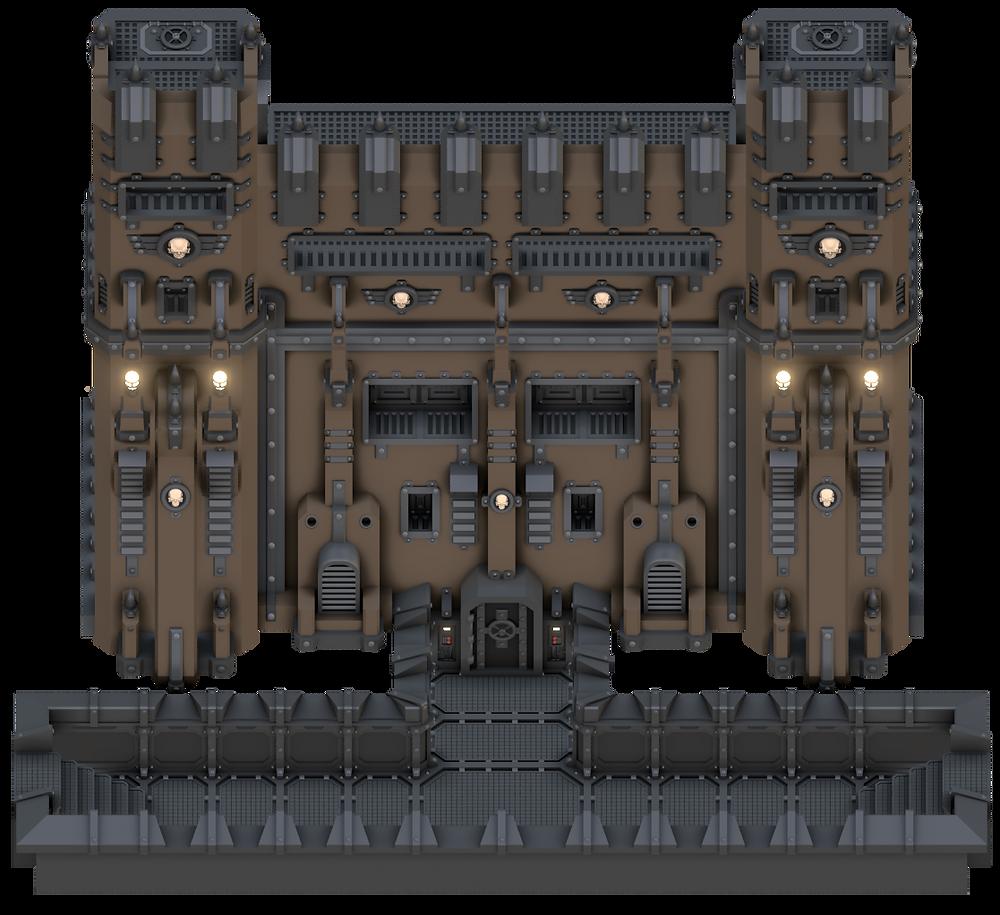 Grimdark Stronghold War Scenery Connector