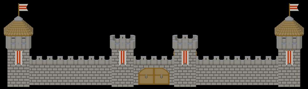 War Scenery Medival Fortress Wall