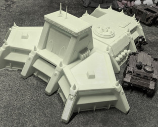 War Scenery Printed STL Model Command HQ