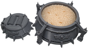 Printed Corpse Starch Silo War Scenery