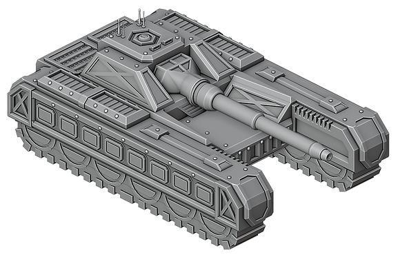Sci-Fi Tank Destroyerby War Scenery
