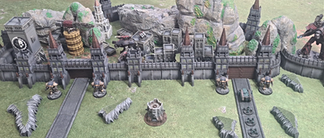 Printed Apocalypse Fortress 4 War Scenery