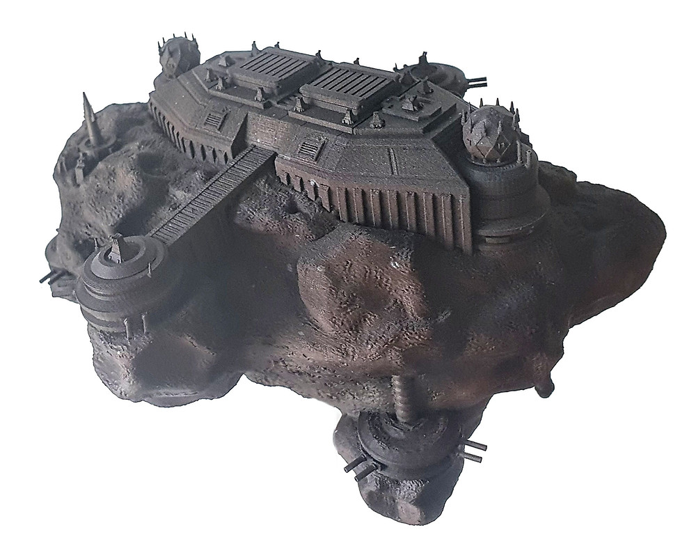 3D printable Battle Station in an Asteroid Base