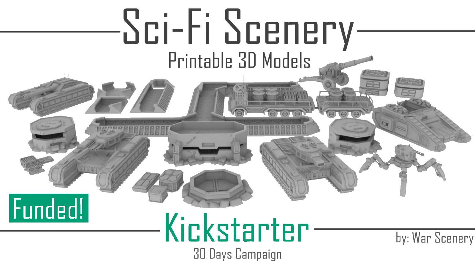 Sci-Fi Scenery Kickstarter War Scenery