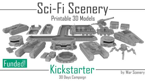 Sci-Fi-Landschaft Kickstarter-Kriegslandschaft