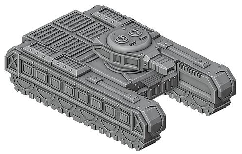 Sci-Fi Battle Tankby War Scenery