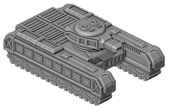 Sci-Fi Battle Tank by War Scenery