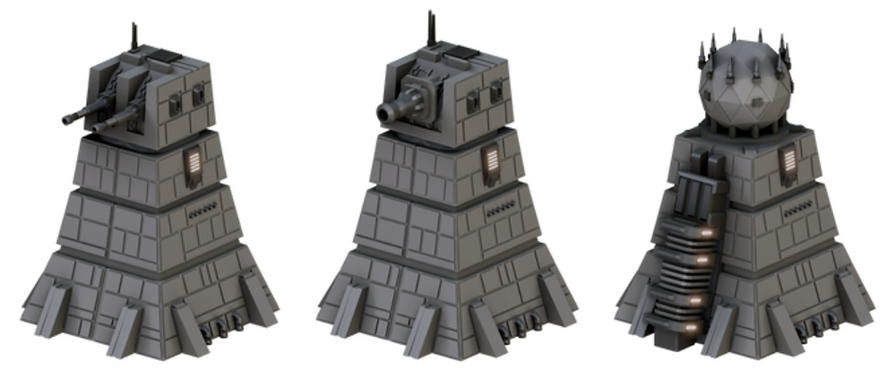 3D printable Space Station Towers