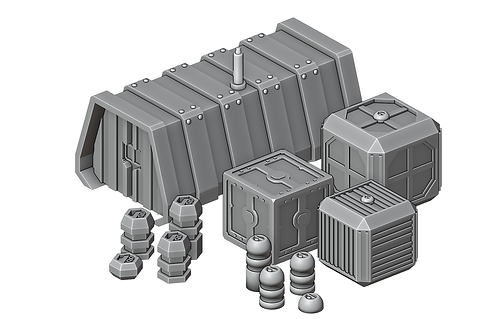 Sci-Fi Crates Set by War Scenery
