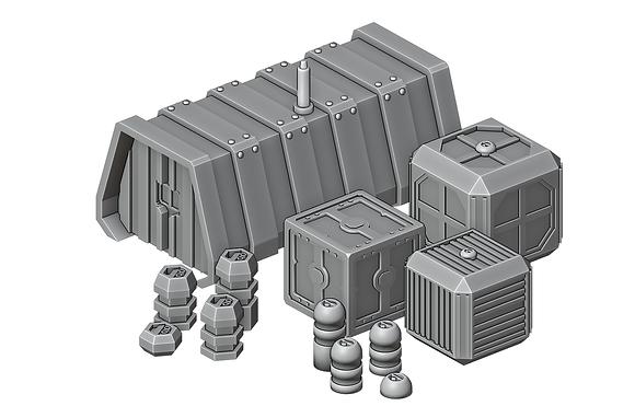 Sci-Fi CratesSet by War Scenery