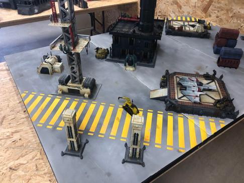 War Scenery Printed STL Model Landing Pad