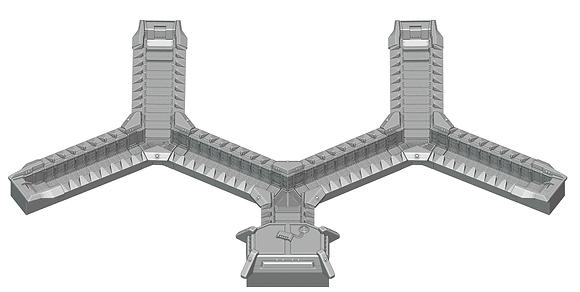 Modulares befestigtes Grabensystem