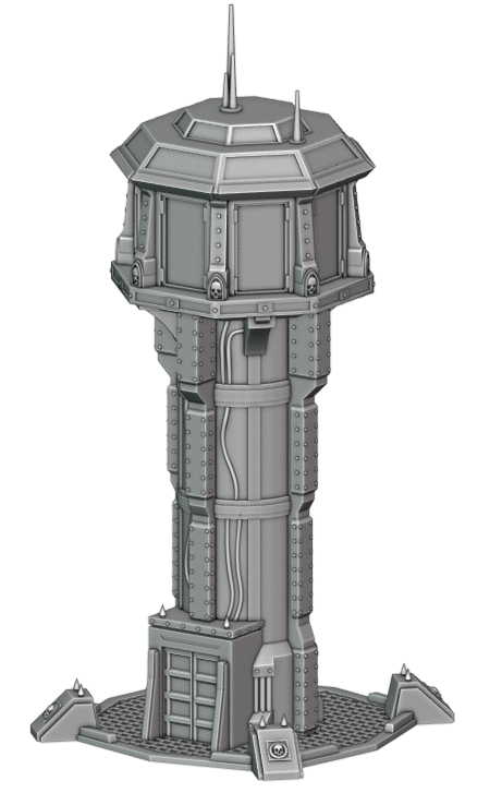 Air Control Tower War Scenery Front