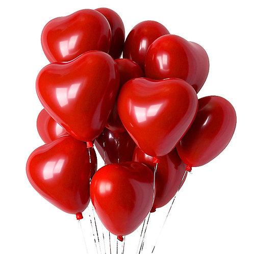 """Латексные шары """"сердце"""" (25 см.)"""