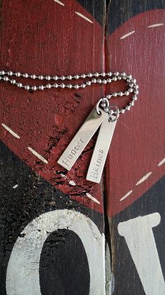 Two bar name necklace