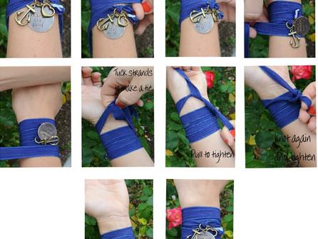 How to tie a silk wrap bracelet!