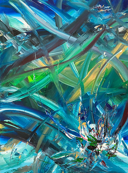 """Blue Forest 18 x 24"""""""
