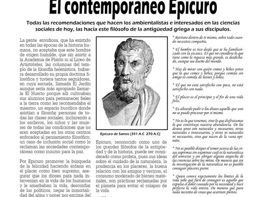 El contemporáneo Epicuro
