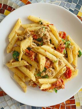 Turkey Mustard Sauce Pasta