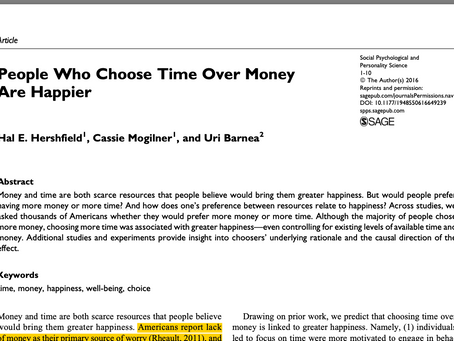 People Who Choose Time Over Money Are Happier
