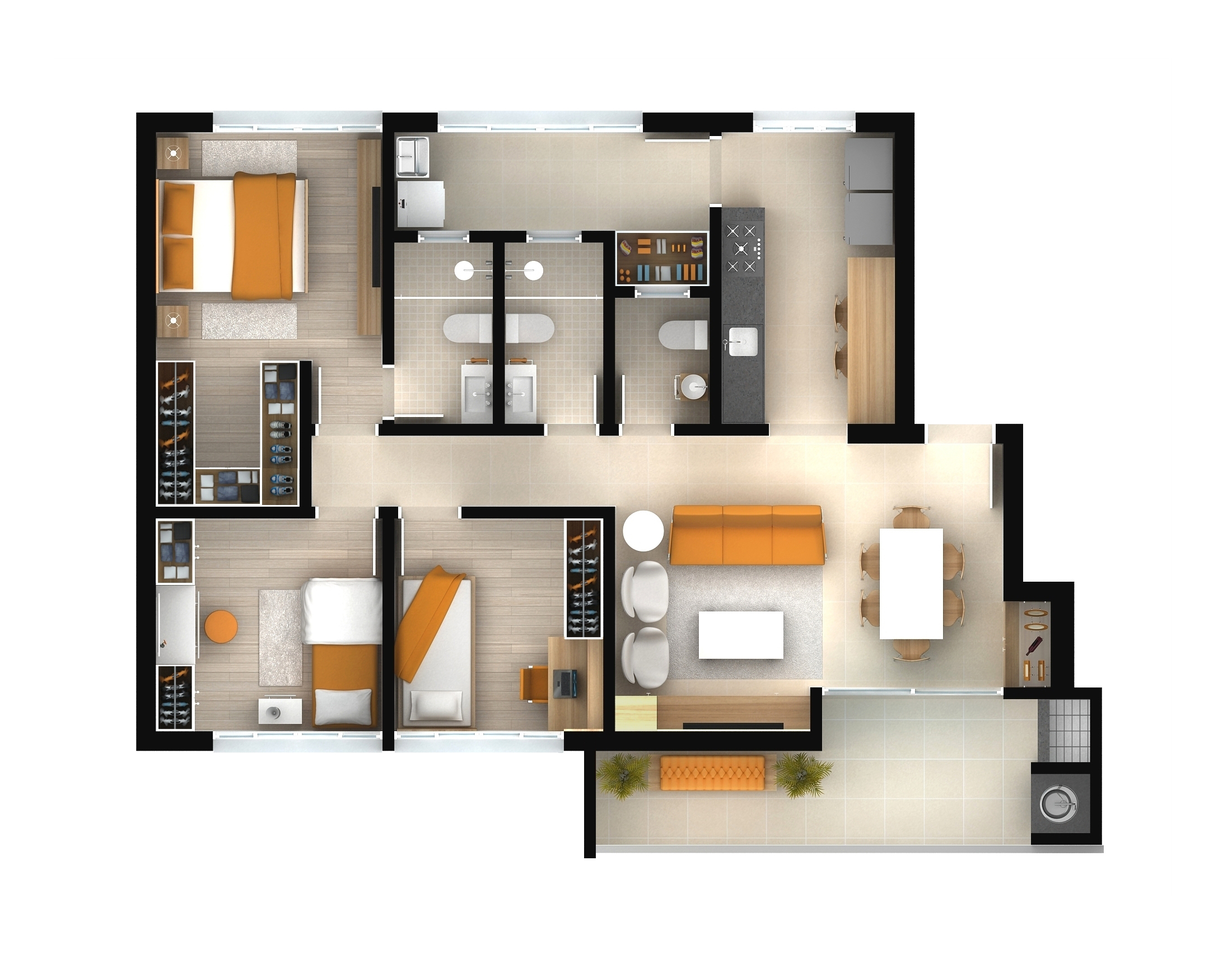 apartamento tipo - torre 1