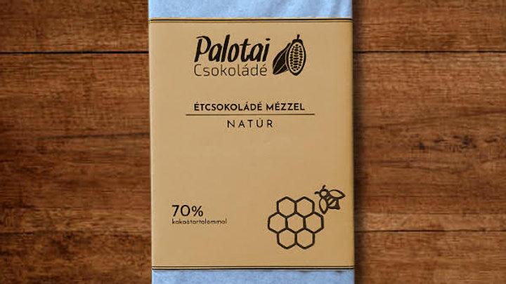 Étcsokoládé mézzel, natúr