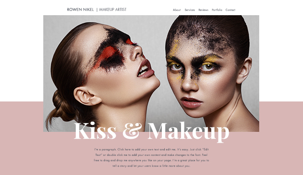 Mode och skönhet website templates – Makeup-artist, Sminkös