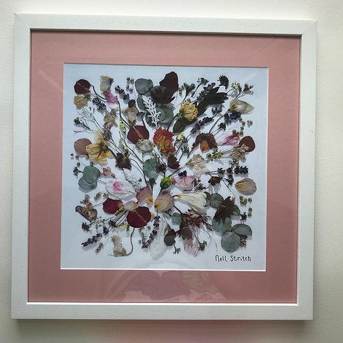Signature Pressed Flower Print Framed